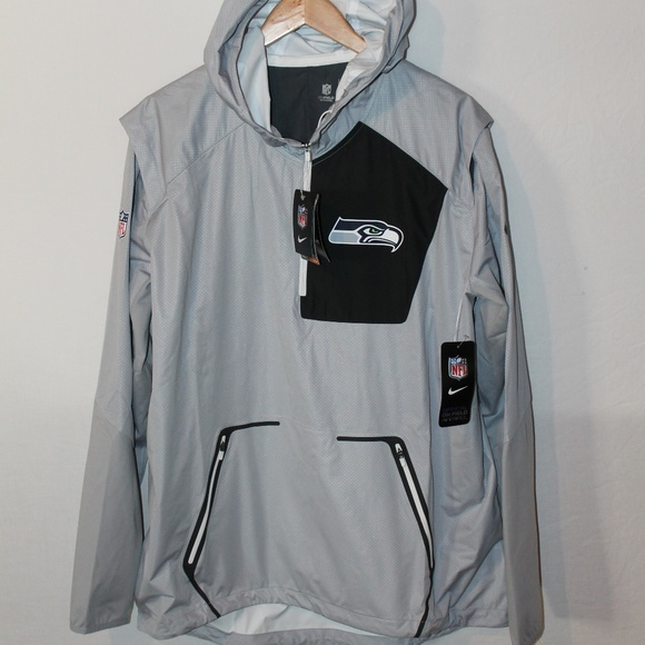 9758ab92dd617 Nike Seahawks Men s Alpha Fly Rush Pullover